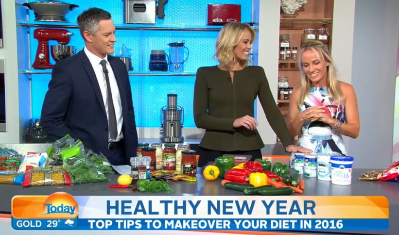 Media Nutritionist Kristen Beck - Today show segment - healthy new year swaps 2016