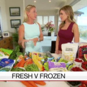 Nutritionist Kristen Beck media comments - Channel 9 A Current Affair - Fresh v Frozen Vegetables