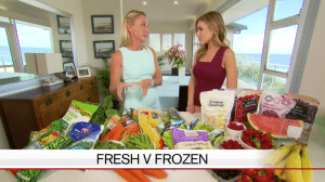 Nutritionist Kristen Beck media comments - Channel 9 A Current Affair - Fresh v Frozen Vegetables